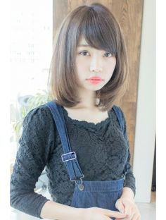 Medium Haircuts With Bangs, Medium Hair Cuts, Pics For Dp, Japanese Hairstyle, Bob Hairstyles, Short Hair Styles, Lady, Womens Fashion, Cute