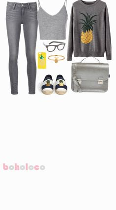 Tropical Grey Breeze | Fall Outfits for Teen Girls for School