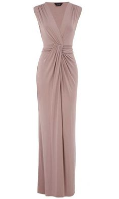 Dorothy Perkin Staupe Knot Maxi Dress Perfect for a wedding guest