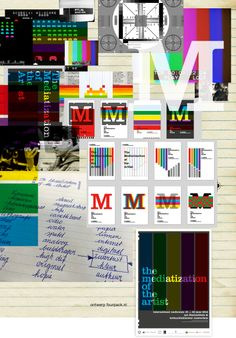 Affiche - mediatization of the artist schets / draft  http://www.FoURPAcK.nl/portfolio/universiteitutrecht