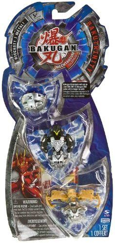 """BakuTrinity: Bakugan Mechtanium Surge Series - """"NOT"""" Randomly Picked (C9772W2) by Spin Master. $19.99. Bakugan Dimensions ended on June 30th 2011 & Bakugan DNA codes would no longer be valid.. Starter pack includes: 3 Bakugan, 3 ability cards, and 3 metal gate cards.. For age 5 and up. Warning! Risk of serious digestive injuries in the event that magnets are swallowed!. """"NOT"""" randomly picked, check out the product image as a reference. With real Diecast!. Bakugan Mechtanium..."""