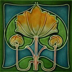 J & W Wade c1905 - RS0208* - Art Nouveau Tiles