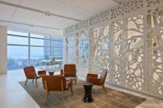 AMEX Office Headquarters Interior Design Workspace Design, Office Workspace, Office Decor, Banks Office, Commercial Office Design, Partition Design, American Express Office, Creative Office Space, Restaurante Bar