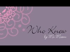 Who Knew | Wedding Poem