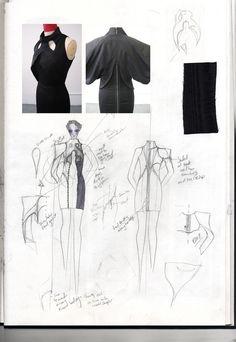 Fashion Sketchbook - fashion design development - fashion sketch; fashion portfolio; the creative process // Rebecca Ward