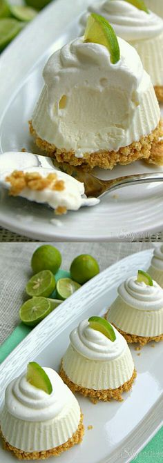 Individual frozen key lime pies.