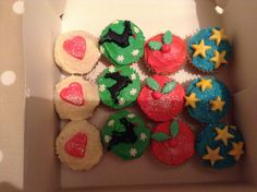 Christmas carrot cupcakes