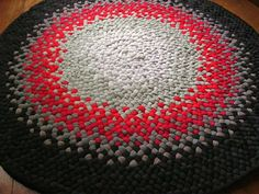 Made to Order Handmade Black Gray Red Braided Area by mrsginther