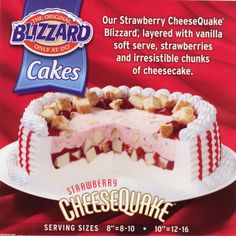 Strawberry Cheesecake Ice Cream Desserts Dairy Queen Cake Love