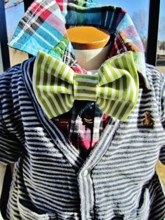 Baby Boy Bow Tie Mr Swag Striped Bow Tie with adjustable by UCbyJ, $16.00