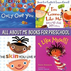 Pre-K books to read. Best All About Me Pre-K and Kindergarten books. A book list featuring the best books for an all about me theme for preschool, pre-k, and kindergarten classrooms; All about me books for a back to school or welcome to school theme. All About Me Eyfs, All About Me Crafts, All About Me Book, September Preschool Themes, September Themes, Kindergarten Books, Preschool Books, Preschool Printables, Preschool About Me