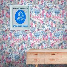 Tattoo Flash II Wallpaper by Liam Sparkes Pop Art Wallpaper, Designer Wallpaper, Bold Colors, Colours, Famous Tattoo Artists, Modern Tattoos, Funky Design, Elle Decor, Girl Room