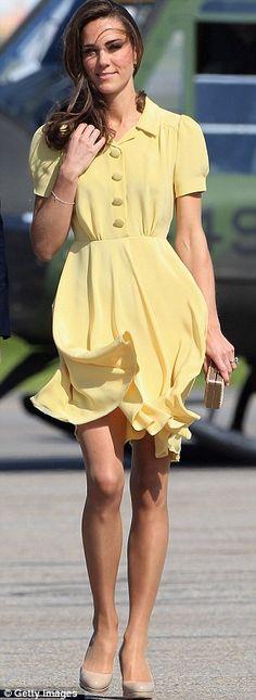 yellow dress kate middleton ring