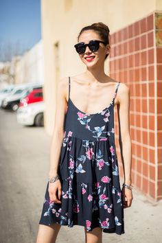 Cute loose floral spaghetti strap dress. Perfect for the spring! -- Only at: www.modlook29.com