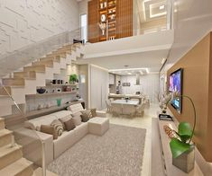 Find new ideas and solutions for your home in our Inspiration Gallery Home Stairs Design, Small House Interior Design, Home Room Design, Dream House Interior, Dream Home Design, Loft Design, Modern House Design, 2 Storey House Design, Stairs In Living Room