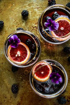 Blood Orange Blackberry Rum Punch - CountryLiving.com