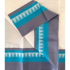 KCOT2700001-VARNAM Handwoven Pure Kanchi Cotton-offwhite blue grey, 700g