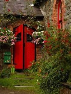 Arched red doors ~ Kinsale , Ireland