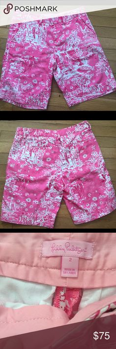Lilly Pulitzer HG Skinny Dippin Chipper shorts EUC Lilly Pulitzer Skinny Dippin shorts. Awesome print placement (can you find the skinny dippers?!)💕 Lilly Pulitzer Shorts