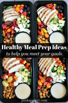 Healthy meal prep ideas to help you save money and meet your goals. Learn how to meal prep like a pro with a few helpful tips! Vegetarian Meal Prep, Lunch Meal Prep, Meal Prep Bowls, Easy Meal Prep, Easy Weeknight Meals, Healthy Meal Prep, Easy Healthy Dinners, Healthy Food, Chicken Meal Prep