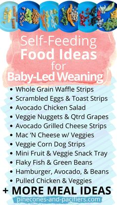24 easy food ideas that are perfect for beginner eaters on baby-led weaning! This is what I served my BLW baby from 7-8 months old after we started solid foods. Meal ideas for baby's first foods… More