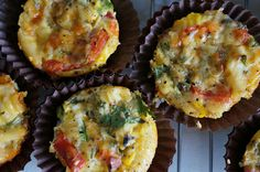 Superfood Number Four Gourmet Recipes, Appetizer Recipes, Holiday Recipes, Great Recipes, Cooking Recipes, Appetizers, Quiche Dish, Frittata, Mini Quiches