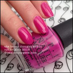 OPI The Berry Thought of You - Brights 2015. ©imabeautygeek.com