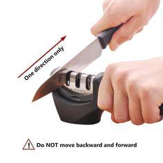 E-PRANCE® M1 Messerschärfer Messerschleifer Knife Sharpener mit 3 Stufen: Amazon.de: Küche & Haushalt