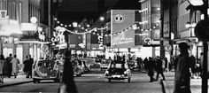 1962: In the economic wonders of the trade thrives, and the inner city of Heilbronn shows itself as here in the Sülmercity Christmas decorated. At this time, light chains, which were strained from house to house, are customary. Many shops of that time are no longer available, such as Hut Mayer, Waldbauer, Café Roman or Zimmermann.