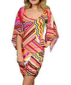 Love this Pink Stripe & Zigzag Dress by SOB Clothing on #zulily! #zulilyfinds