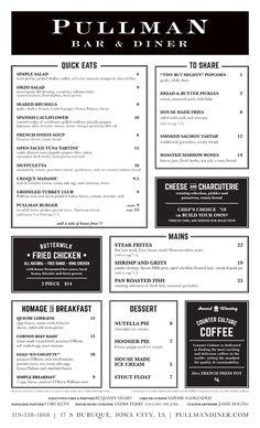 Art of the Menu: Pullman Bar & Diner