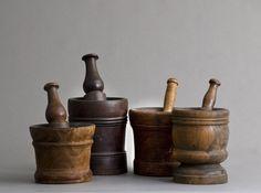Vintage mortars & pestles