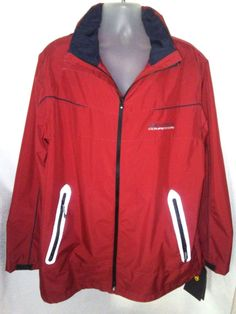 NAUTICA COMPETITION Red Jacket Mens XL $278 NWT #Nautica #BasicJacket