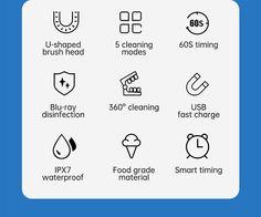 Smart 360 Degress U Sonic Kids Electric Silicone Automatic Ultrasonic – dailyfashionlove Ultrasonic Toothbrush, Kids Electric Toothbrush, Acoustic Wave, Magnetic Levitation, Brush Type, Deep Cleaning, Cartoon Styles