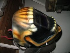 Custom airbrushed welding helmet