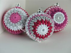Christmas Baubles to purchase on Folksy (Made by Sun Rae) and Etsy (by Sun Rae)