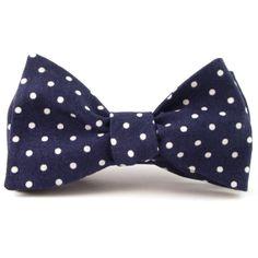 The Tie Bar 100/% Woven Silk Navy Blue Pencil Pinstriped Slim Self-Tie Bow Tie