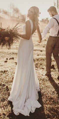 Rustic Wedding Dresses For Inspiration ★ rustic wedding dresses simple sheath low back country rodrigovipych