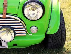 Austin Mini In Lime Green