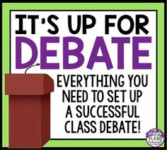 This resource has everything you need to set up and implement a formal debate in your classroom. Use debates to improve your students research, writing, speaking, and listening skills.