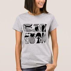 Vintage Pyrex Pattern - Mod Kitchen (Black) T-Shirt - retro gifts style cyo diy special idea Kitchen Black, Black Kitchens, Vintage Pyrex, Vintage Shops, Retro Gifts, Vintage Gifts, Retro Outfits, Retro Fashion, Fitness Models