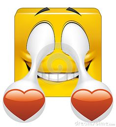 Square emoticon in love stock illustration. Illustration of illustration - 51599350 Emoticon Love, Emoji Love, Smileys, Smiley Emoji, Wtf Face, I Love Heart, Love Illustration, My Emotions, Cartoon Images