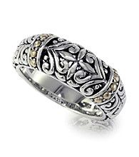 Effy® Design Band Ring in Silver and 18K Gold
