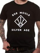 Officially licensed import Bob Mould t-shirt design printed on a Black 100% cotton short sleeved T-shirt.