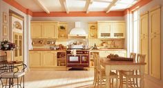pale-yellow-country-style-kitchen