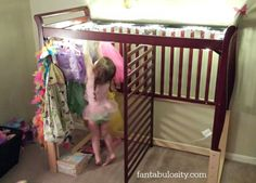 Transform your crib in to a kids dressing room! Boy or Girl, any kid would love this! http://fantabulosity.com