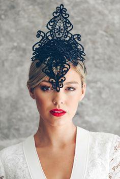 Lace   Veil Fascinators - Morgan   Taylor  9cd6ee87058