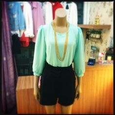Minty green is back Color your day with this fresh mint blouse