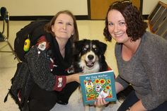 Mom & I visited a regional elementary school to educate them about deaf dogs, helping rural shelters and how to safely approach a strange dog!  We brought along a copy of My Dog Kiefer's book.  He is a deaf Border Collie!