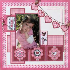"Scrapbook Layout ""You're a dream come true"" Love all the hearts."
